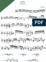 Bach J. S. Lute Suite No. 1 – BWV 996