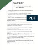Tematica Practica Vara 2019