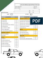 Form Sso Ss 020 Check List Camioneta