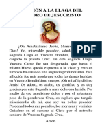 Oración a La Llaga Del Hombro de Jesucristo