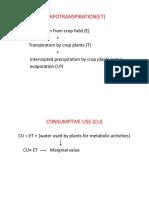 ET Estimation