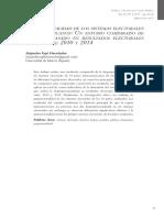 Proporcionalidad de los sistemas electorales latinoamericanos