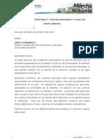 Carta Abierta Reforma Univ. y c. Naturales y Exactas