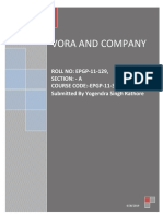 Vora & Company Case