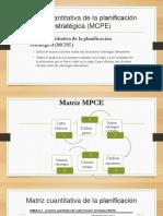 Matriz cuantitativa de la planificación estratégica (MCPE