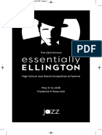 2018 Essentially Ellington Playbill Program