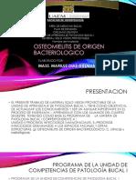 origen bacteriologico y osteomielitis