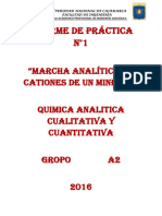 Marcha Analitica de Cationes