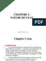 Chap1 Nature de l'Eau