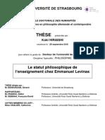 Le statut philosophique de l'enseignement