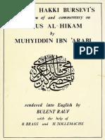 Fusus Al-Hikam_ Ismail Hakki Bursevi's Translation and Commentary