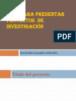 Estructura Del Proyecto de Investigación.