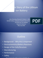 The Inside Story of the Lithium Ion Battery