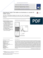 Experimental study of the bubble size distribution in a pseudo-2D bubble column