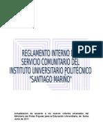 REGLAMENTO SERVICIO COMUNITARIO IUPSM- 19-07-2011.doc