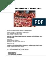 Consumo de Carne en El Tiempo Final