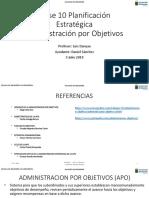 Clase 10 Planificación Estratégica APO