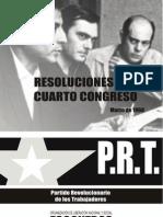 Resoluciones Del Cuarto Congreso Del PRT
