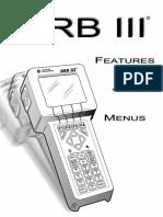 Manual DRB IIIr Features & Menus