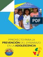 Proyecto para la Prevención de Embarazos en la adolescencia