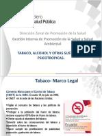 Ley organica de Control y Regulación de Tabaco.