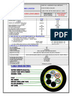 Design Sheet for 36F ADSS Cable - 100 Metre Span