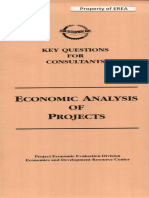 Economic Analysis Projects Key Questions Consultants