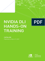 NVIDIA DLI Catalog Published March 17 2019