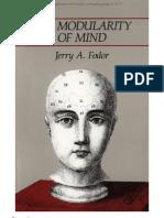7225914 Fodor Modularity of Mind