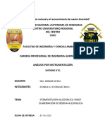 Informe de Fermentacion Alcoholica. Elaboracion de Bebida Alcoholica de Carambola