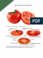 El Tomate y Sus Partes
