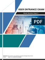 Iiser Sample Paper 2