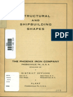 Structural and Shipbuilding Shapes 1938