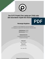 Das OLPC-Projekt (One Laptop Per Child) Unter dem besonderen Aspekt des Deutschunterrichts