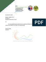 Accomplishment Report - November 2018