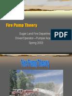 Fire Pump Teory