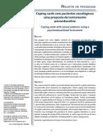 Pacientes Oncológicos, documentos de estudos
