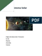 Formacion y Origen Del Sistema Solar