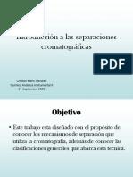 Introducción a Las Separaciones Cromatográficas