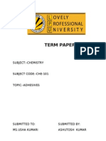Term Paper on Adhesive