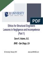 ética en la ingeniería estructural