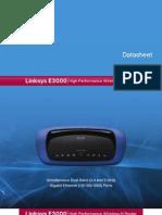 Cisco E3000 Series Datasheet