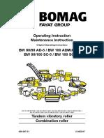 Bomag BW80 Instruction Manual