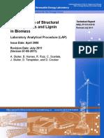 DeterminationofStructuralCarbohydratesandLignininBiomass