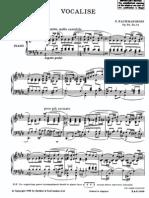 Rachmaninoff Richardson Vocalise