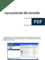 Aplicaciones de Consola
