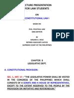 CHAPTER 8 Legislative Dept.