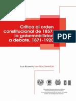 Crítica al orden constitucional de 1857