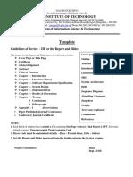 report format for vtu syllabus