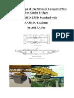 PSC Box Girder Bridge With Abutment & Pier Design in AASHTO-LRFD